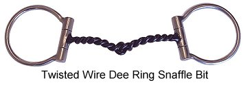 twisted wire snaffle bit