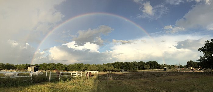 The Kristull Ranch sits under a lucky rainbow